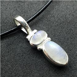 171) STERLING SILVER MOONSTONE PENDANT W/ CORD