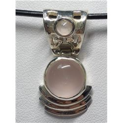 191) STERLING SILVER ROSE QUARTZ PENDANT
