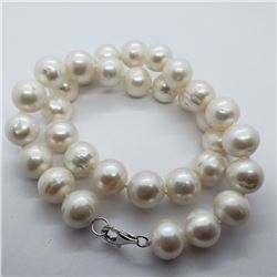 168) STERLING SILVER FW PEARL NECKLACE