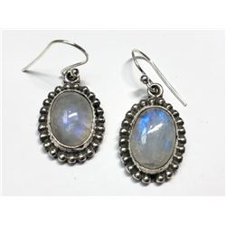 159) STERLING SILVER MOONSTONE EARRINGS