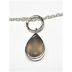 140) STERLING SILVER CHALCEDONY NECKLACE