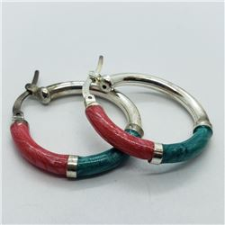 148) STERLING SILVER HOOP EARRINGS