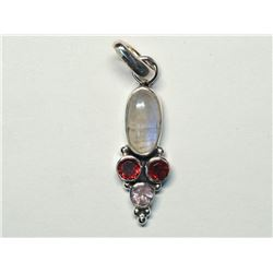 107) STERLING SILVER GEMSTONES PENDANT