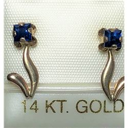 198) 14KT GOLD SAPPHIRE EARRINGS