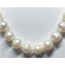 188) STERLING SILVER PEARL NECKLACE