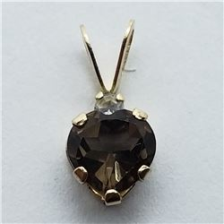 122) 10K YELLOW GOLD GEMSTONE PENDANT