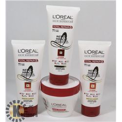 BAG OF ASSORTED LOREAL HAIR PRODUCT