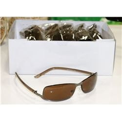 BOX OF BROWN DESIGNER SUNGLASSES