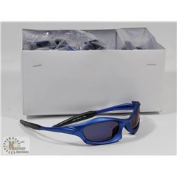 CASE OF DESIGNER BLUE FRAME SUNGLASSES