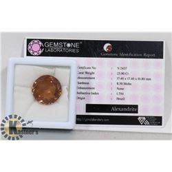 #19- ALEXADRITE GEMSTONE 23.90CT
