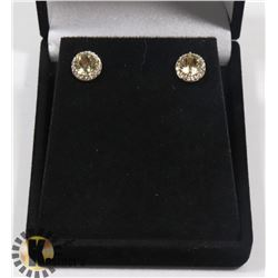 #30- CITRINE STUD EARRINGS