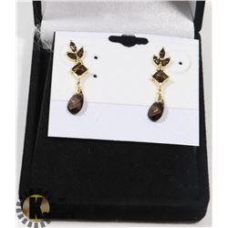 #29-SMOKY QUARTZ DANGLING EARRINGS