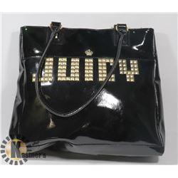 JUICY  REPLICA BLACK AND GOLD LOGO PURSE