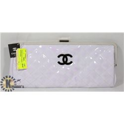 CHANEL REPLICA WHITE CLUTCH STYLE PURSE