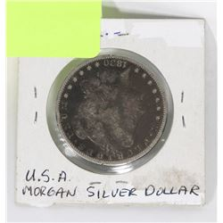 """1880 """"0"""" U.S.A MORGAN SILVER DOLLAR."""