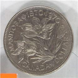 1870 - 1970 MANITOBA CENTENNIAL DOLLAR COIN
