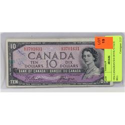 1954 CANADIAN $10 DEVIL'S FACE BILL