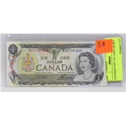 1973 CANADIAN UNC 1 DOLLAR BILL