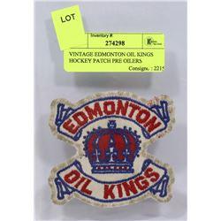 VINTAGE EDMONTON OIL KINGS HOCKEY PATCH PRE OILERS