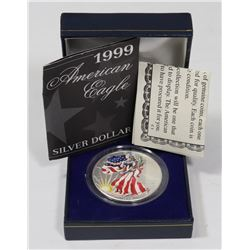 1999 SILVER EAGLE WITH CERTIFICATE