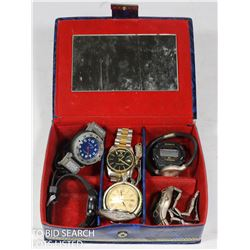 COLLECTION OF MEN'S WATCHES WITH EAGLE PIN