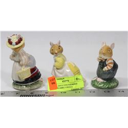 "3 ROYAL DOULTON FIGURINES FROM ""BRAMBLY HEDGE"