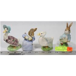 4 BESWICK FIGURINES FROM BEATRIX POTTERS