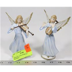 DRESDEN ANGEL MUSICIAN FIGURINES