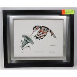 """HUMMINGBIRD"" PRINT 44/250 BY BILL JACKSON"