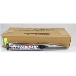 "BOX OF 12 SILICONE 17"" WIPER BLADES"