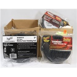 2 BOXES OF MEGUIARS DIAMOND FOAM FINISHING PADS