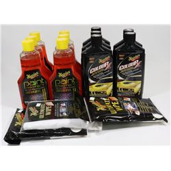 BOX OF MEGUIARS PAINT PROTECT AND COLOR X