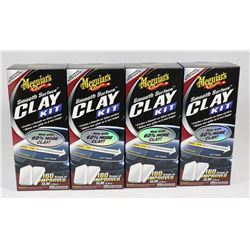 BOX OF MEGUIARS SMOOTH SURFACE CLAY KITS