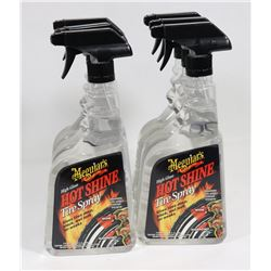 BOX OF MEGUIARS HOT SHINE TIRE SPRAY