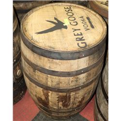 LOGOED OAK BARREL GREYGOOSE VODKA SWISHABLE.
