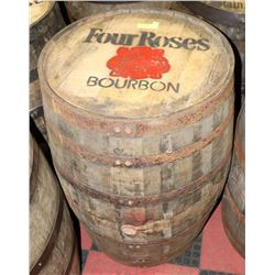 LOGOED OAK BARREL FOUR ROSES WHISKEY SWISHABLE.