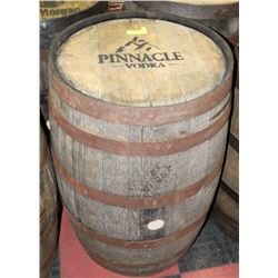 LOGOED OAK BARREL PINNACLE VODKA SWISHABLE.