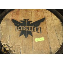 SMIRNOFF VODKA LOGOED BARREL, SWISHABLE.