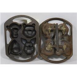 TWO CAST METAL WINNIE THE POOH MOLDS