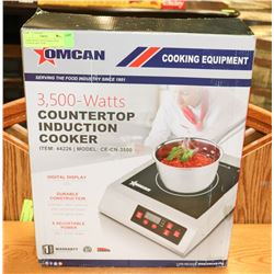 3500W HEAVY DUTY INDUCTION COOKER 240V, NEW