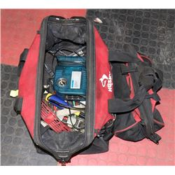 LOT OF 2 TOOLS BAGS WITH CONTENTS