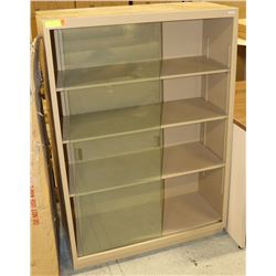 UNCLAIMED METAL VERTICLE DISPLAY CASE
