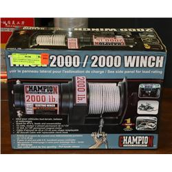 NEW CHAMPION 2000LB WINCH, GREAT FOR ATV'S, BOATS
