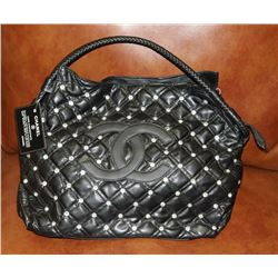 REPLICA CHANEL BLACK BAG WITH JEWELS LOGO