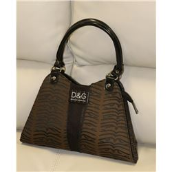 DOLCE & GABBANA REPLICA  BROWN AND BLACK PURSE