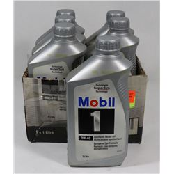 CASE OF SIX 1L 0W-40 MOBIL 1 SYNTHETIC MOTOR OIL
