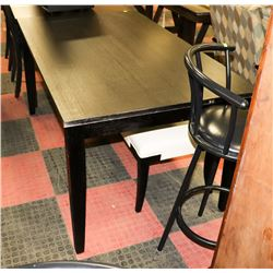 "BLACK KITCHEN TABLE (60""X36""X30.5"")"