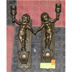 HARROGATE HOUSE BRASS WALL CANDLE HOLDERS MADE IN