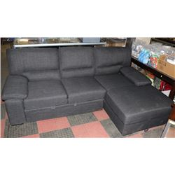 GREY FABRIC CONVERTIBLE SECTIONAL