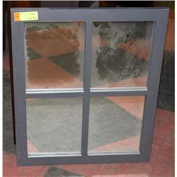 FRAMED WINDOW STYLE MIRROR